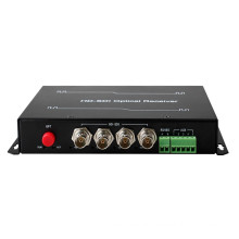 HongRui 4 Channel hd sdi video converter with 1 reverse data Digital Fiber Optical Transmitter/Receiver made in china